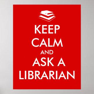 Los regalos del bibliotecario guardan calma para póster