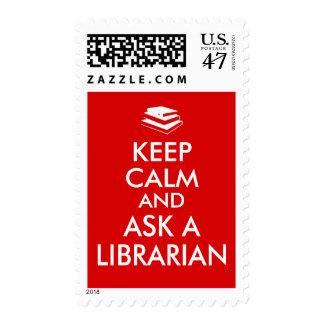 Los regalos del bibliotecario guardan calma para sello