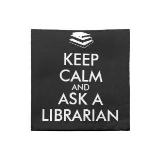 Los regalos del bibliotecario guardan calma para servilletas de papel