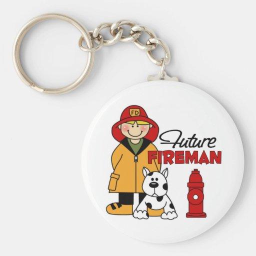 Los regalos del bombero de los niños futuros del b llaveros personalizados