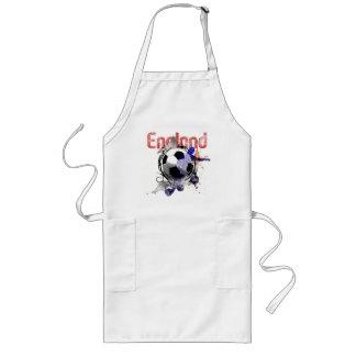 Los regalos del fútbol del Grunge de Inglaterra pa Delantal Largo