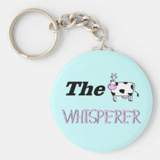 Los regalos del Whisperer de la vaca Llavero Personalizado