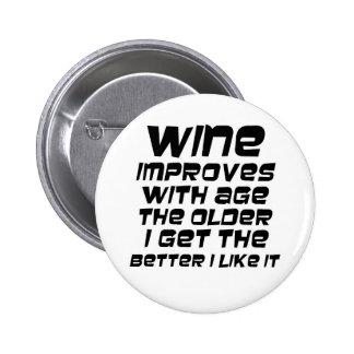 Los regalos divertidos de la cita del vino abultan pins