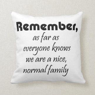 Los regalos divertidos de la familia de las citas cojín