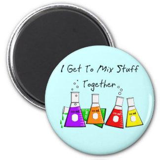 """Los regalos divertidos de la materia del químico """" imán redondo 5 cm"""