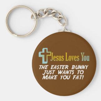 Los regalos divertidos de Pascua, Jesús le aman Llaveros Personalizados