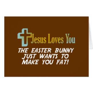 Los regalos divertidos de Pascua, Jesús le aman Tarjeta De Felicitación