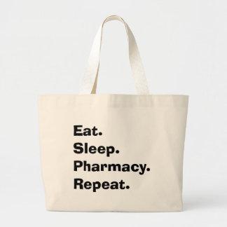 """Los regalos divertidos del farmacéutico """"comen, du bolsa tela grande"""