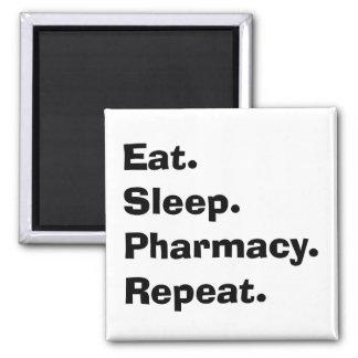 """Los regalos divertidos del farmacéutico """"comen, du imán cuadrado"""