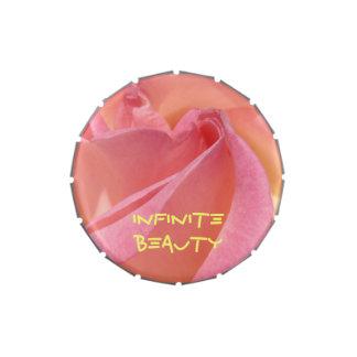 Los regalos infinitos de la belleza pican las lata jarrones de caramelos