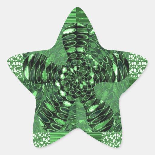 Los regalos infinitos del ARTE del verde del Calcomanía Forma De Estrella