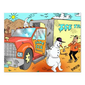 """¡Los regalos más divertidos del camionero! Invitación 4.25"""" X 5.5"""""""