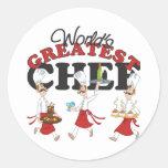 Los regalos más grandes del cocinero de los mundos etiquetas redondas