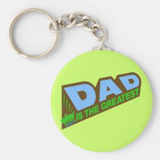 Los regalos más grandes del papá para él llavero redondo tipo pin