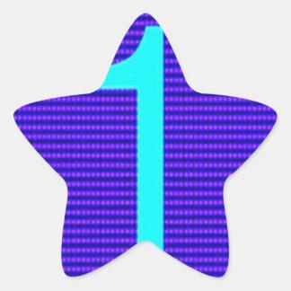 Los regalos para el primero de los ganadores de pegatina en forma de estrella
