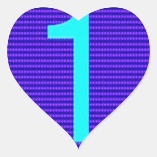 Los regalos para el primero de los ganadores de pegatina en forma de corazón