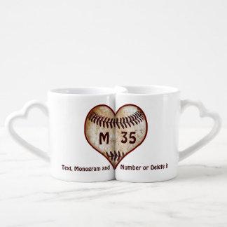 Los regalos para los amantes del béisbol tazas para parejas