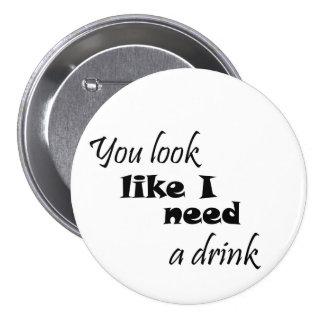 Los regalos para mujer divertidos del vino del reg pin redondo 7 cm
