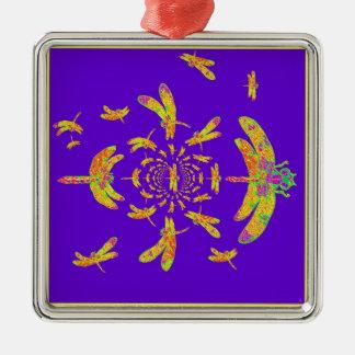 Los regalos púrpuras de la libélula de oro ornamento para reyes magos