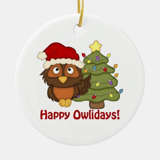 Los regalos retros adorables del búho del navidad  adorno para reyes