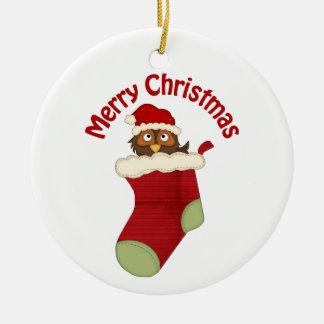 Los regalos retros adorables del búho del navidad  ornato