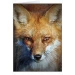 Los regalos y saludos del Fox rojo Tarjetas