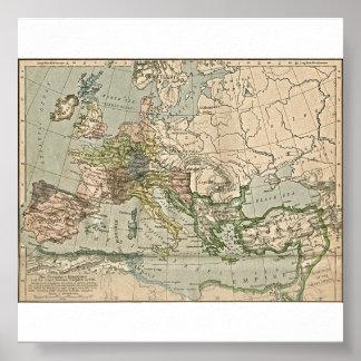 Los reinos germánicos y el imperio romano del este póster