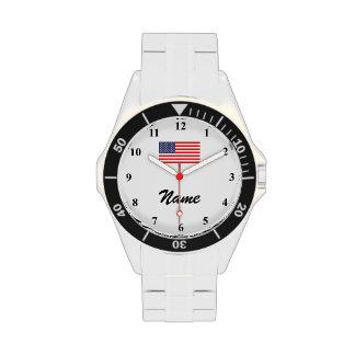 Los relojes de los hombres con nombre de encargo y