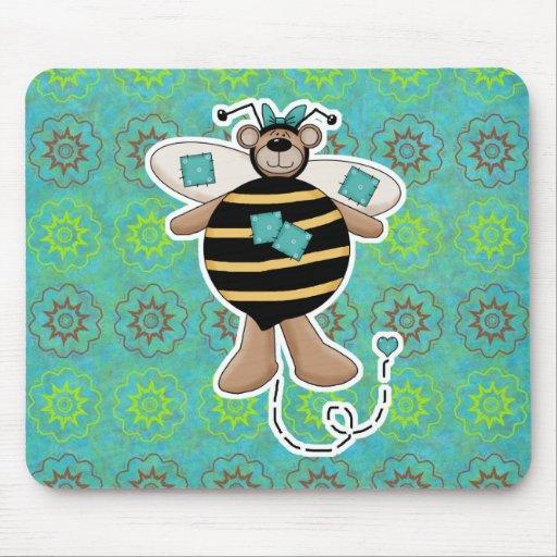 Los remiendos del trullo manosean el oso de la abe alfombrillas de ratón