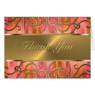 Los remolinos afiligranados del oro le agradecen felicitación