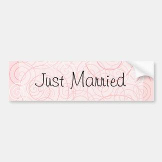 Los remolinos del rosa acaban de casar a la pegati pegatina para auto