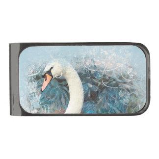 Los remolinos florales de los cisnes el | clip para billetes plomizo
