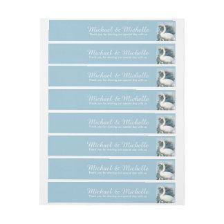 Los remolinos florales de los cisnes el | pegatinas postales