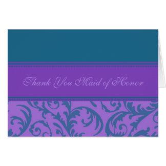 Los remolinos púrpuras del trullo le agradecen cri felicitacion
