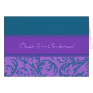Los remolinos púrpuras del trullo le agradecen tarjeta de felicitación