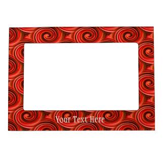 Los remolinos rojos abstractos diseñan el marco ma marcos magneticos para fotos