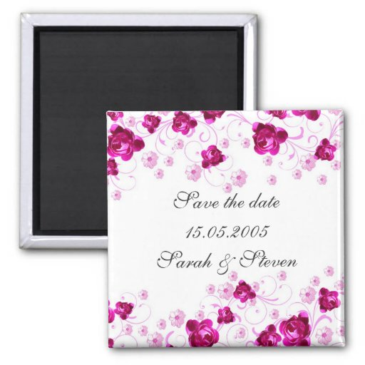 Los remolinos rosados del flor del Peony ahorran Iman Para Frigorífico