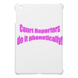 ¡Los reporteros de corte lo hacen fonético!