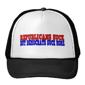 Los republicanos chupan, pero los demócratas gorras de camionero