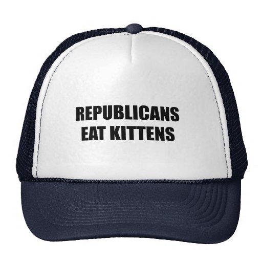 Los republicanos comen gatitos gorras de camionero