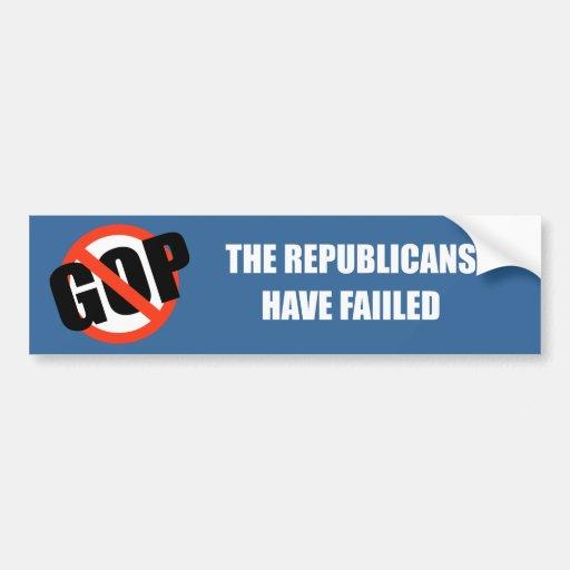 Los republicanos han fallado etiqueta de parachoque