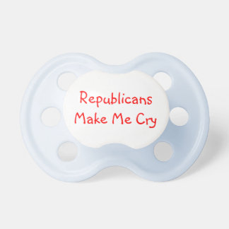 Los republicanos me hacen el pacificador del grito chupetes