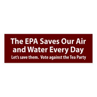 ¿Los republicanos quieren cerrar el EPA Tarjeta De Visita