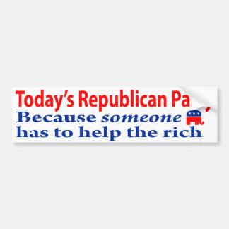 Los republicanos son gente rica pegatina de parachoque