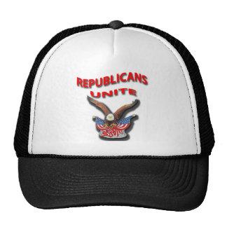 Los republicanos unen el rpr rojo gorros bordados