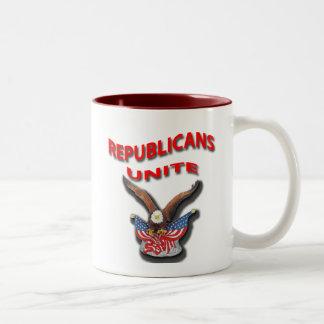 Los republicanos unen el rpr rojo tazas de café