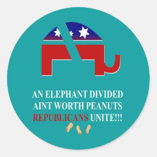 Los republicanos unen etiqueta redonda
