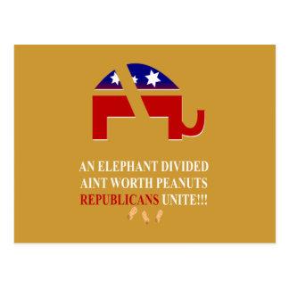 Los republicanos unen tarjeta postal