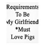 Los requisitos de ser mi novia deben amar cerdos