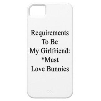 Los requisitos de ser mi novia deben amar conejito iPhone 5 carcasa